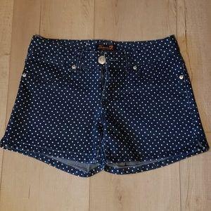 Denim Polka Dot Shorts